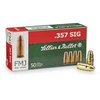 Sellier & Bellot Pistol .357 SIG, FMJ, 140 Grain, 50 Rounds