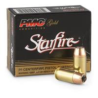 20 rounds PMC Gold Starfire .380 Auto. 95 Grain Starfire Hollow Point Ammo