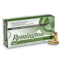 Remington UMC Handgun, 9mm Luger, MC, 147 Grain, 50 Rounds