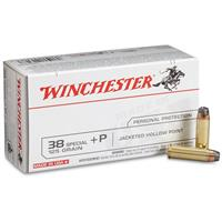 Winchester USA Pistol, .38 Special +P, JHP, 125 Grain, 50 Rounds