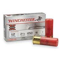 Winchester Super-X Buckshot, 12 Gauge, 2 3/4″ Shell, 1 Buck, 16 Pellets, 5 Rounds
