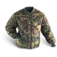 Military Insulated Diamond Quilted Flight Jacket, Woodland Camo