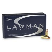 Speer® Lawman® Clean-Fire®, 9mm Luger, 124 Grain, TMJ, 50 Rounds