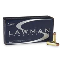 Speer Lawman Clean-Fire, .38 Special +P, 158 Grain, TMJ, 50 Rounds
