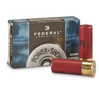"Federal Power-Shok Low Recoil Buckshot, 12 Gauge, 2 3/4"", 9 Pellets 00 Buck, 5 Rounds"
