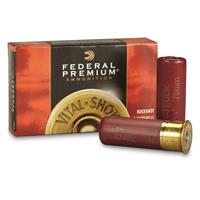 "Federal Premium, 12 Gauge, 2 3/4"" 9 Pellets 00 Buck Buckshot, 5 Rounds"