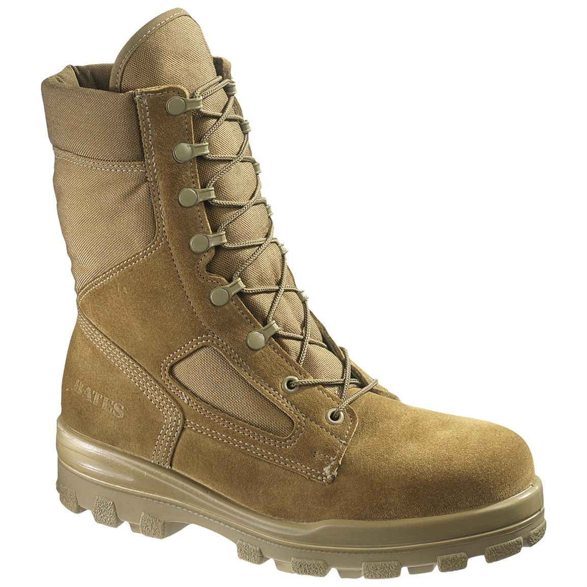 Men's Bates® DuraShocks® Steel Toe Boots, Olive Mojave