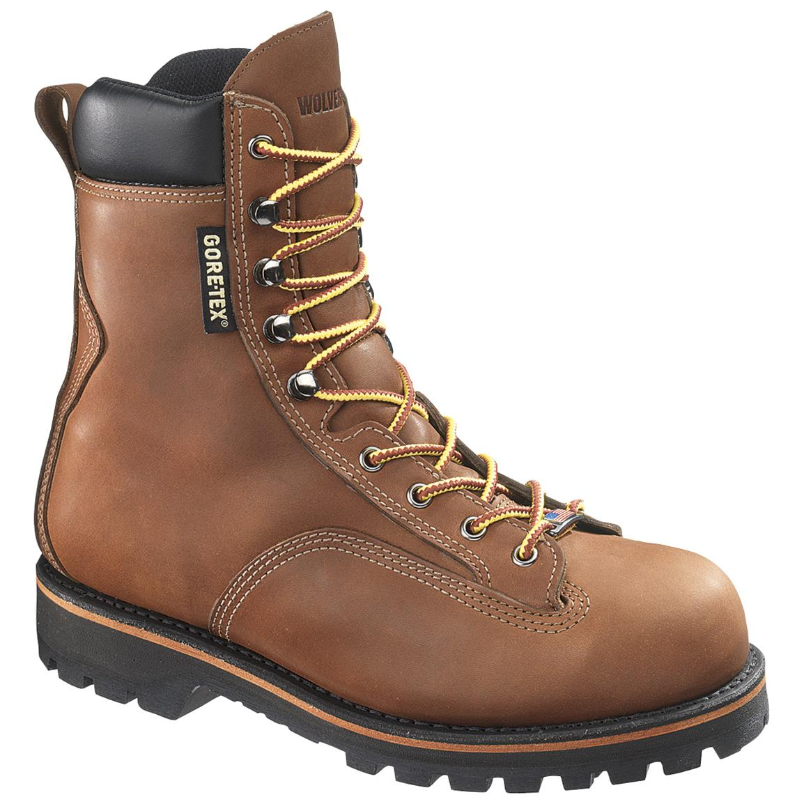 Men's Wolverine® 8 inch Northman GORE-TEX® Steel Toe EH Boots, Brown