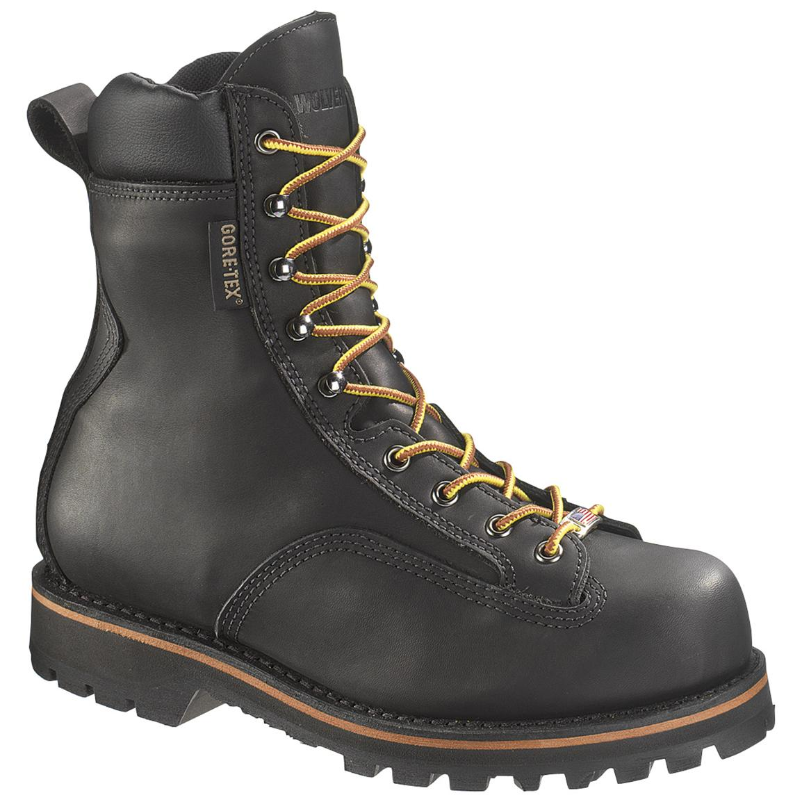 Men's Wolverine® 8 inch Northman GORE-TEX® Steel Toe EH Boots, Black