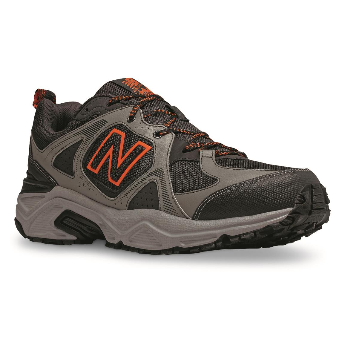 New Balance Men's MT481LC3 Trail Shoes, 10d, Black/Gray/O...