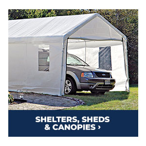 Shop Shelters, Sheds and Canopies