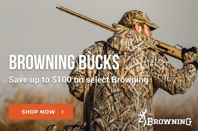 Browning Bucks. Save on Select Browning