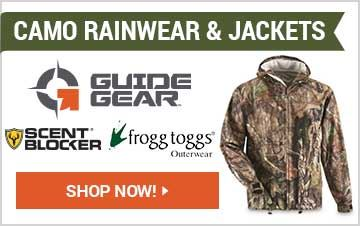 Shop Camo Rainwear & Jackets