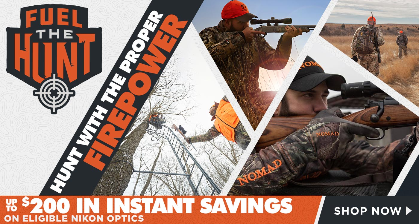 Hunt with the Proper Firepower - Up to $200 in Instant Savings on Eligible Nikon Optics, Shop Now
