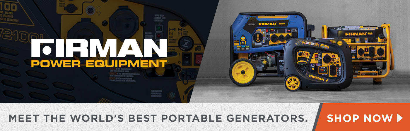 Firman Power Equipment Meet the World's Best Portable Generators - Shop Now