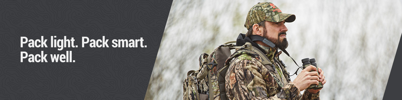 Pack light. Pack smart. Pack well. Hunting Accessories