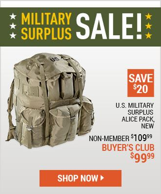 Military Surplus Sale