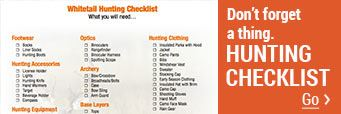 Whitetail Hunting Gear Checklist ¿ Don¿t Forget a Thing!
