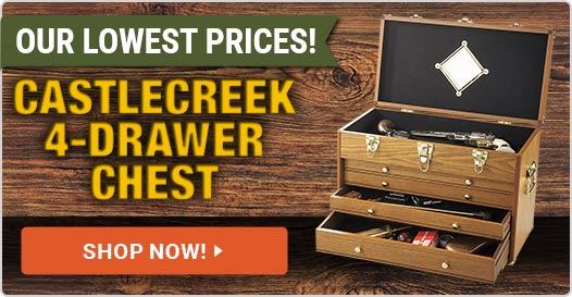 CASTLECREEK 4-Drawer Collector's Chest