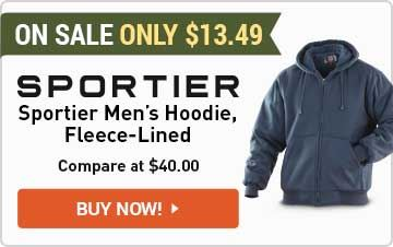 Sportier Men's Fleece-Lined Hoodie