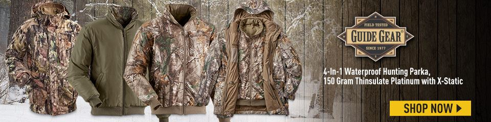 Guide Gear Steadfast 4-in-1 Hunting Parka