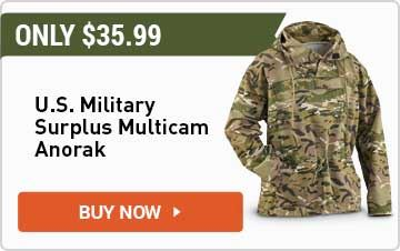 U.S. Military Surplus Men's MultiCam Anorak Jacket
