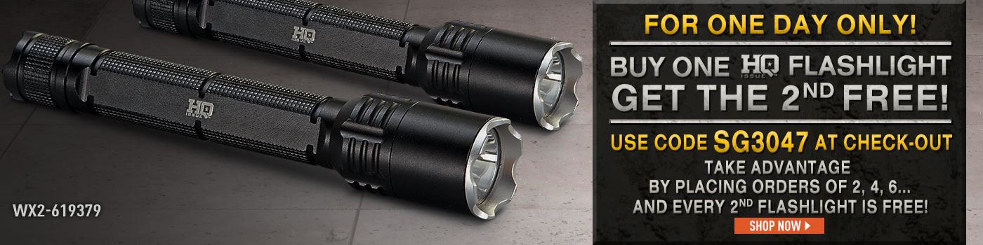 Buy 1 HQ Flashlight Get 1 Free SG3047