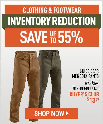 Clothing & Footwear Inventory Reduction