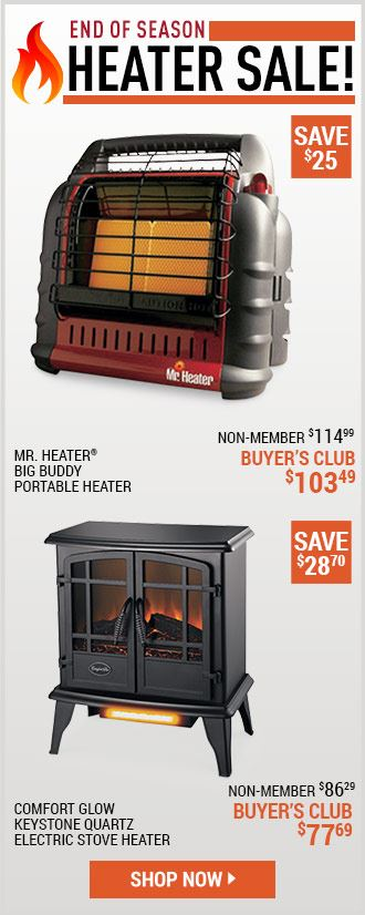 End Of Season Heater Sale