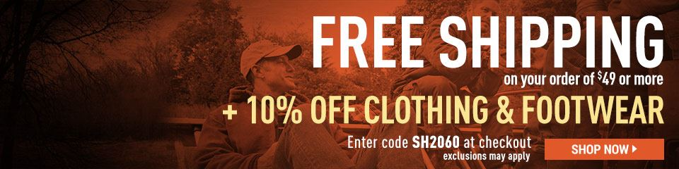Free Shipping on $49 Min PLUS 10% Off Clothing & Footwear! Exclusions Apply