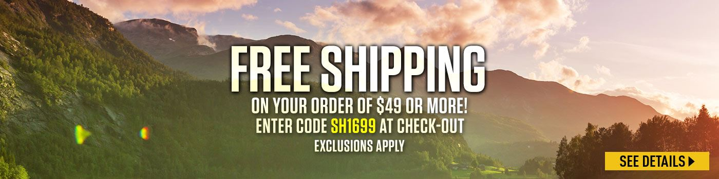 Free Shipping on $49 Minimum Purchase Exclusions Apply