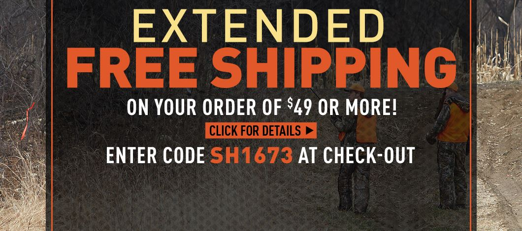 Free Shipping on $49 Minimum - Extended