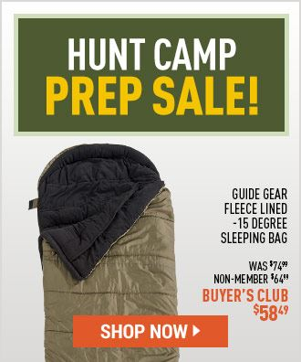 Hunt Camp Prep Sale