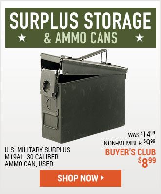 Surplus Storage and Ammo Cans