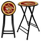 "2-Pk. of Anheuser Busch® 24"" Cushioned Stools"